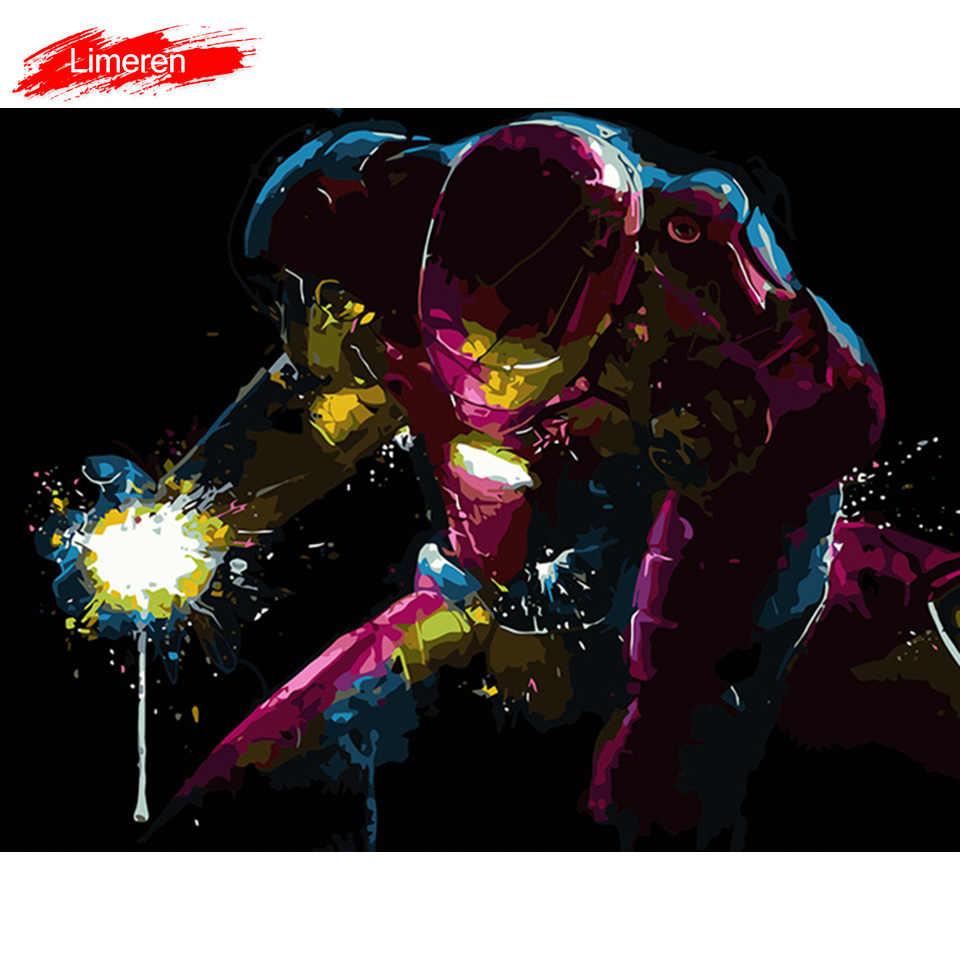 Avengers Endgame Demir Adam Cercevesiz Resim Akrilik Boya