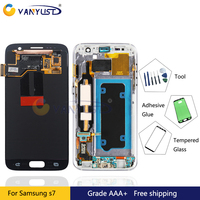 100 Tested Super Amoled LCD Screen Touch Digitizer Assembly For Samsung Galaxy S7 G930 G930F Lcd