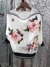 2017 new women's loose decals shirt