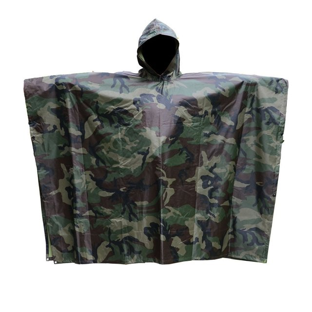 Multifunction Camouflage Ghillie Suits Waterproof Rain Poncho Military Outdoor Camping Hiking Hunting Ground Sheet Ghillie Suits