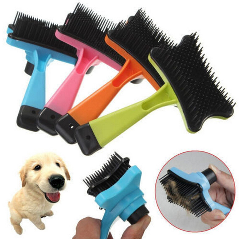 Pet Accessories Brand New Professional Puppy Cat Hair Grooming Slicker Comb Gilling Brush Quick Clean Tool Pet