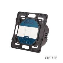 Bingoelec standard ue 2 Gang 1 Way przełącznik dotykowy WIFI części automatyki inteligentnego domu bezprzewodowy światło zdalne część przełącznika