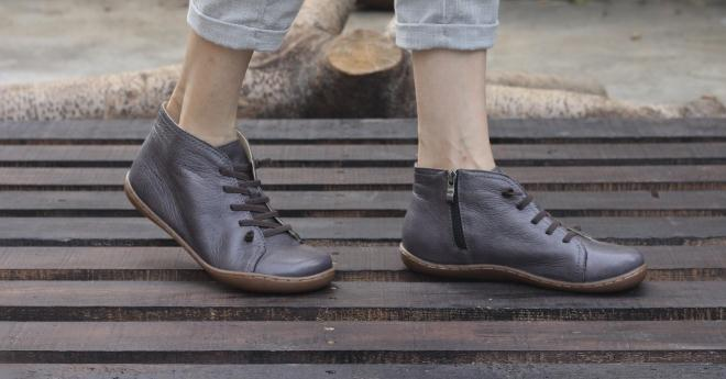 (35-46)Boots Women Shoes Hand-made Genuine Leather Ankle Boots for Women Square toe Zip Ladies Boots Female Footwear (K03) 2