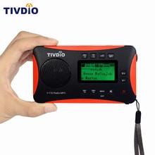 TIVDIO V-116 Portable Radio FM MW SW World Receiver USB/SD Card With MP3 Player/Sleep Timer Alarm Clock /E-book/Calendar