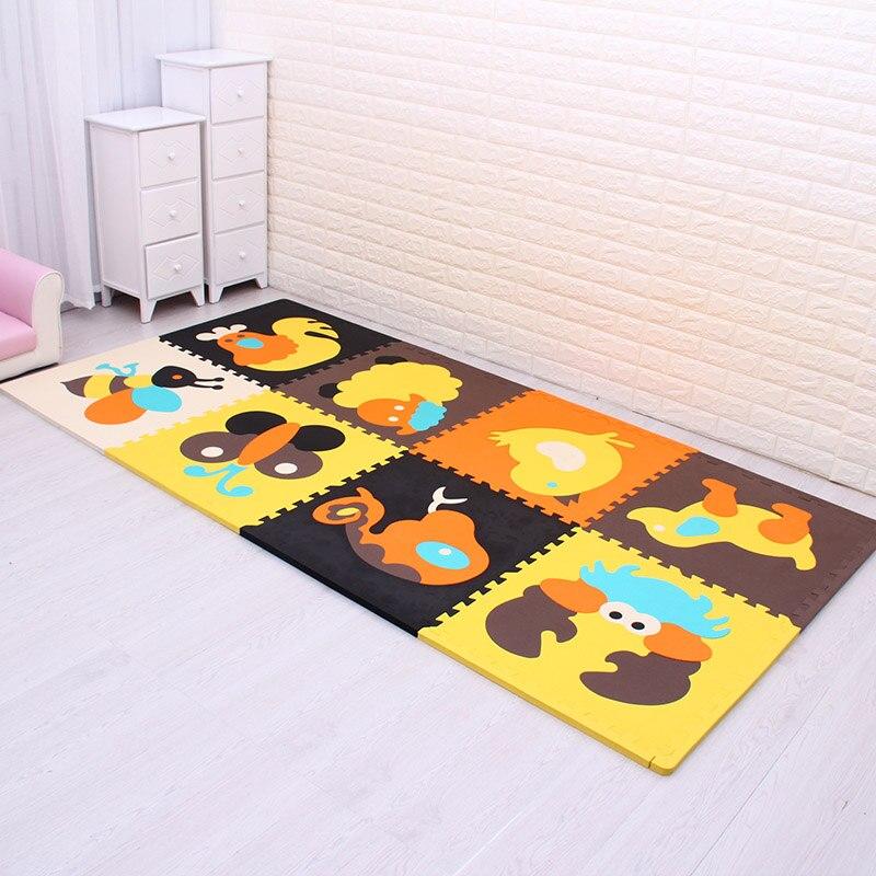 4 pièces/lot meiqicool bébé EVA mousse jouer Puzzle tapis pour enfants/exercice de verrouillage carreaux tapis de sol tapis, chaque 60x60cm d'épaisseur 20mm - 2