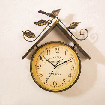 Decorative Retro Wall Clock Hangings Cafe Living Room Wall Decoration Creative Wall Clock Watches Bedroom Ornaments Design
