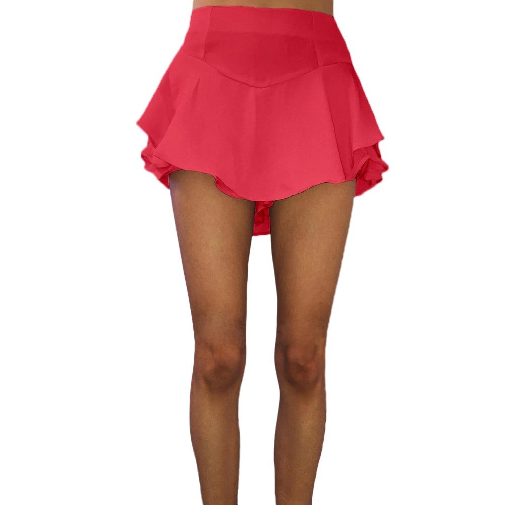 Summer New Fashion Beach Mini Skirts Women Pleated Layer Skirt Micro Sleepwear A-Line High Waist Vintage Party Swing Skirt Юбка