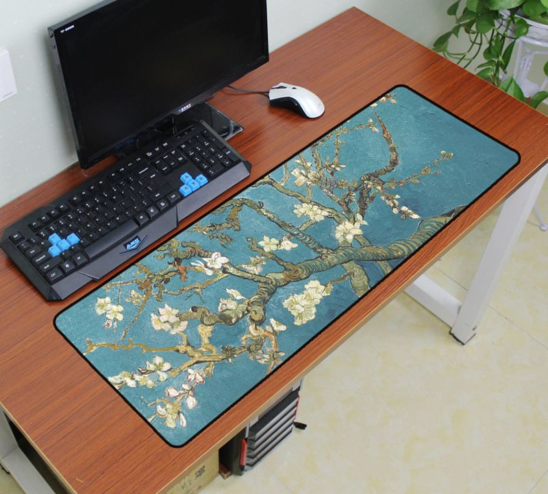 Van Gogh Mouse Pad 900x300mm Pad To Mouse Notbook Computer Art Mousepad Gaming Padmouse World Map Gamer To Keyboard Mouse Mats