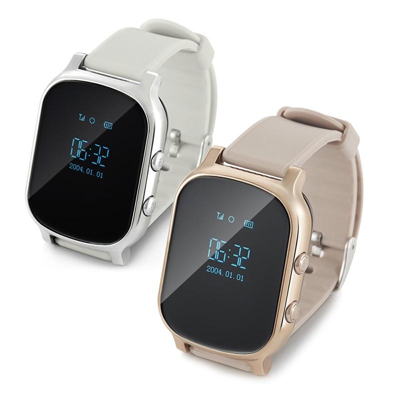 New Bluetooth Smart font b Watch b font T58 Kids GPS Tracker Smartwatch Google Map SOS
