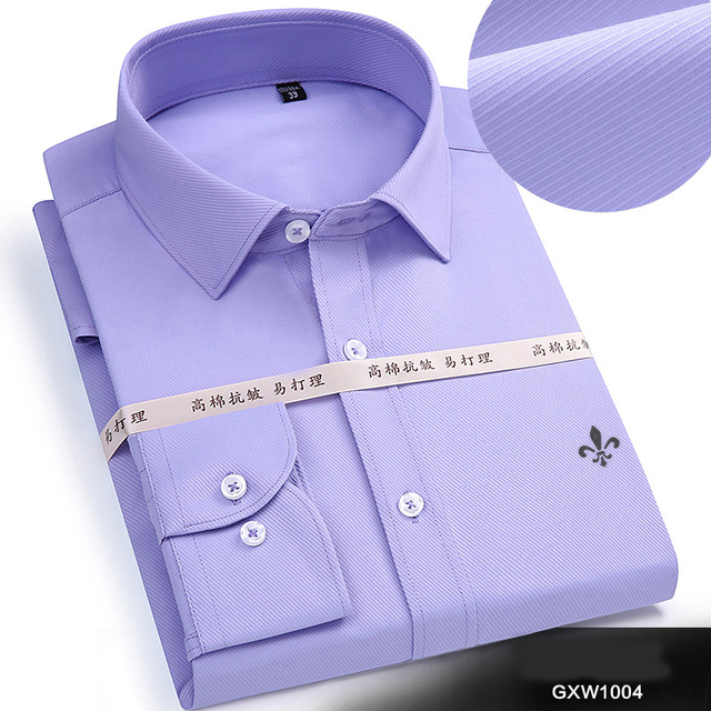 New Casual Solid Slim Fit Social Business Brand Men Clothing 5