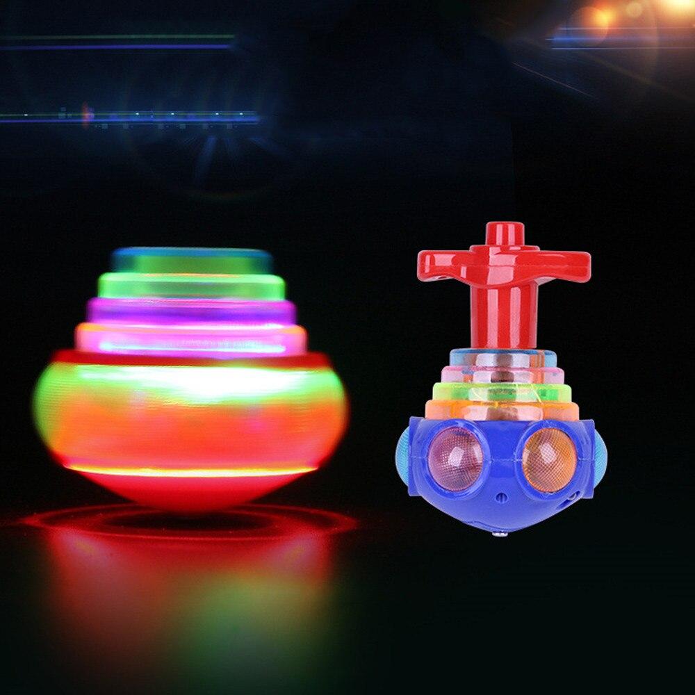 Детский Пластиковый Забавный светодиодный светильник, музыкальная игрушка, игрушка-Спиннер, подарок для снятия стресса, игрушка-гироскоп