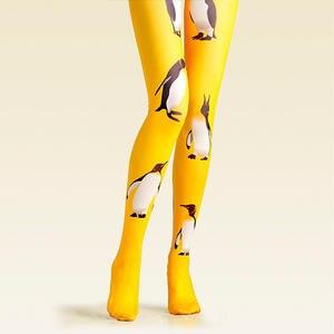c8f2c0435b0 VP Unique geometry pattern Tights Yellow Silk stockings 1pc