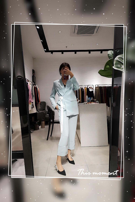 Pantalon Ddxgz3 Ensembles Fashin Blazer Manteau 2 Femmes Costumes Couleur Pièce 2019 Printemps ZzYqwn5xIP