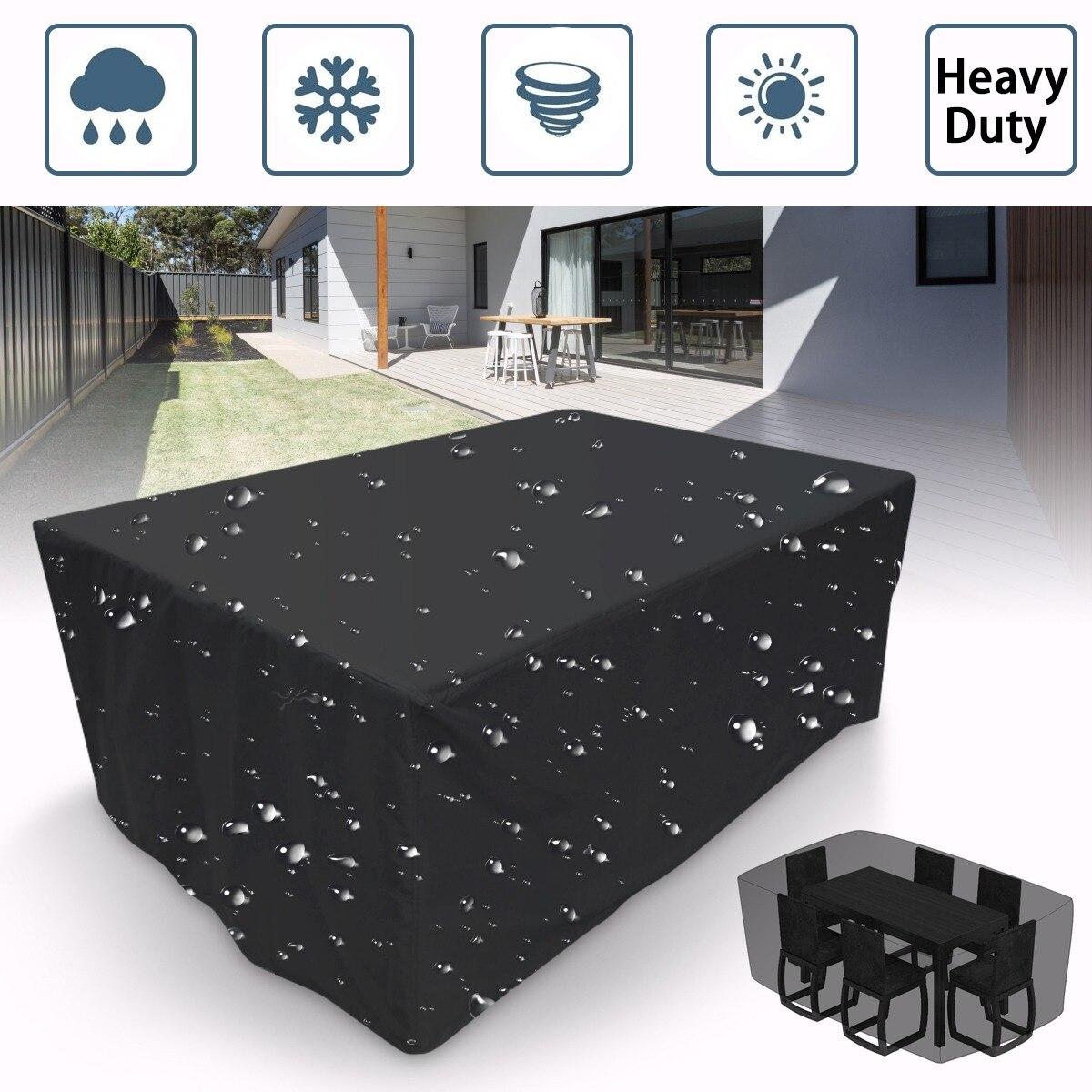 16 Größe Outdoor Abdeckung Wasserdichte Möbel Abdeckung Sofa Stuhl