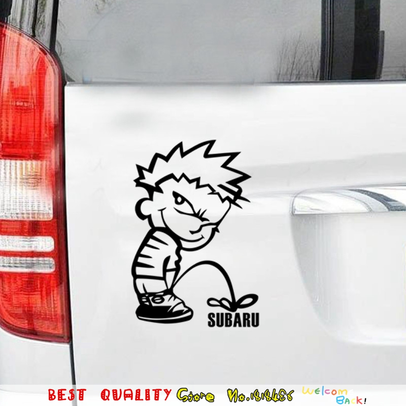 Funny Naughty Boy Subaru Pee Wall Sticker Home Decoration Wall Paper Art Paste Sticker For Kids Room Toilet WC Bathroom Decals-in Wall Stickers from Home ...  sc 1 st  AliExpress.com & Funny Naughty Boy Subaru Pee Wall Sticker Home Decoration Wall ...