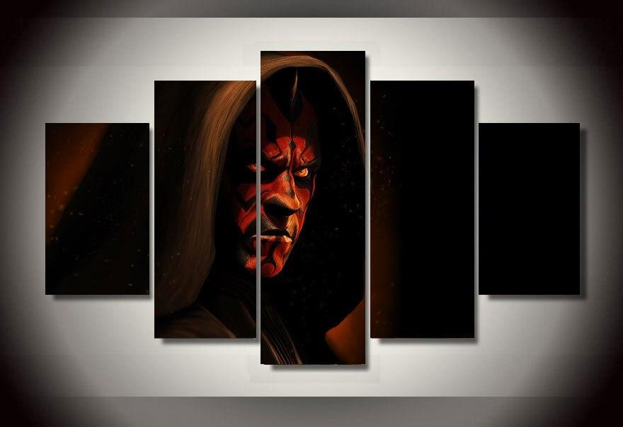 apresurado impreso star wars samurai lienzo hd pintura de pared cuadros para la sala unids