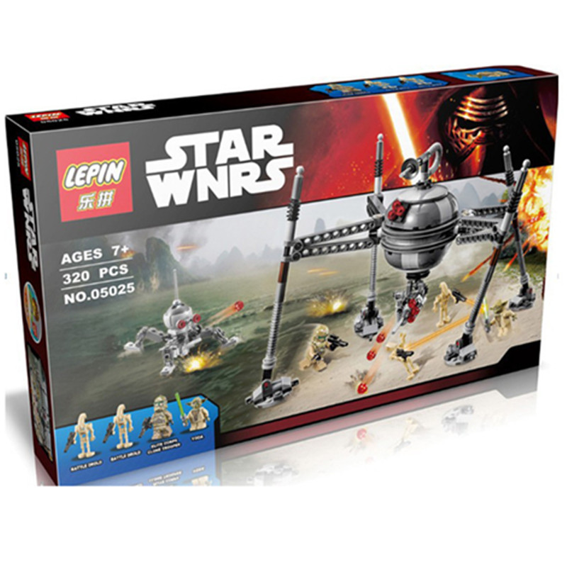 05025 Star Wars Homing Spider Building Block Yoda Master Minifigures Building Block Christmas Gifts compatiable with lego