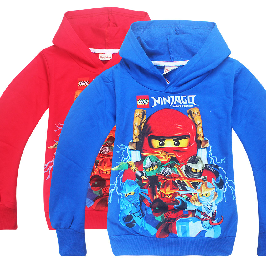 2017 Boys Outwear Ninja Ninjago Hoodies Batman Costumes Clothes long Sleeve T shirts Children's Sweatshirts For Boys Kids Tops
