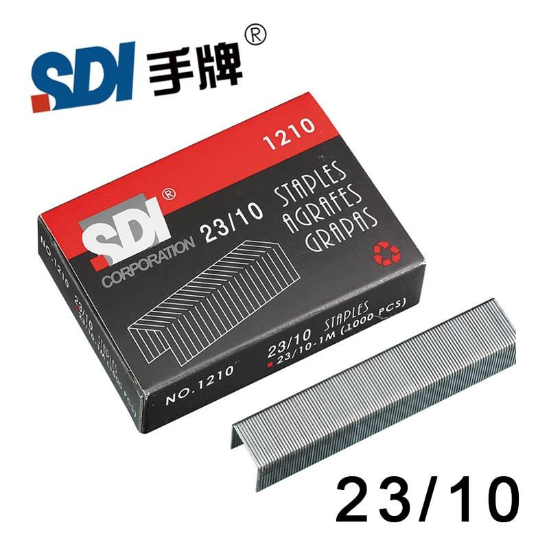 Taiwan SDI 23/10 Heavy Duty Staple Staples In Big Stapler Silver Metal 1000Pcs/Box 1210