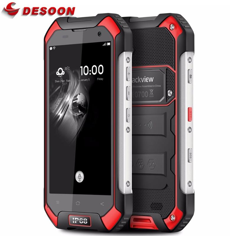 In Stock Original Blackview BV6000 Android 7.0 Mobile phone 4G LTE MTK6755 Octa Core 3GB+32GB 13MP GPS Glonass IP68 WaterProof