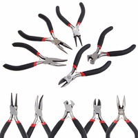 New 5Pcs Mini Jewelry Chain Round Bent Nose Plier Cutter Beading Tool Repair Kit