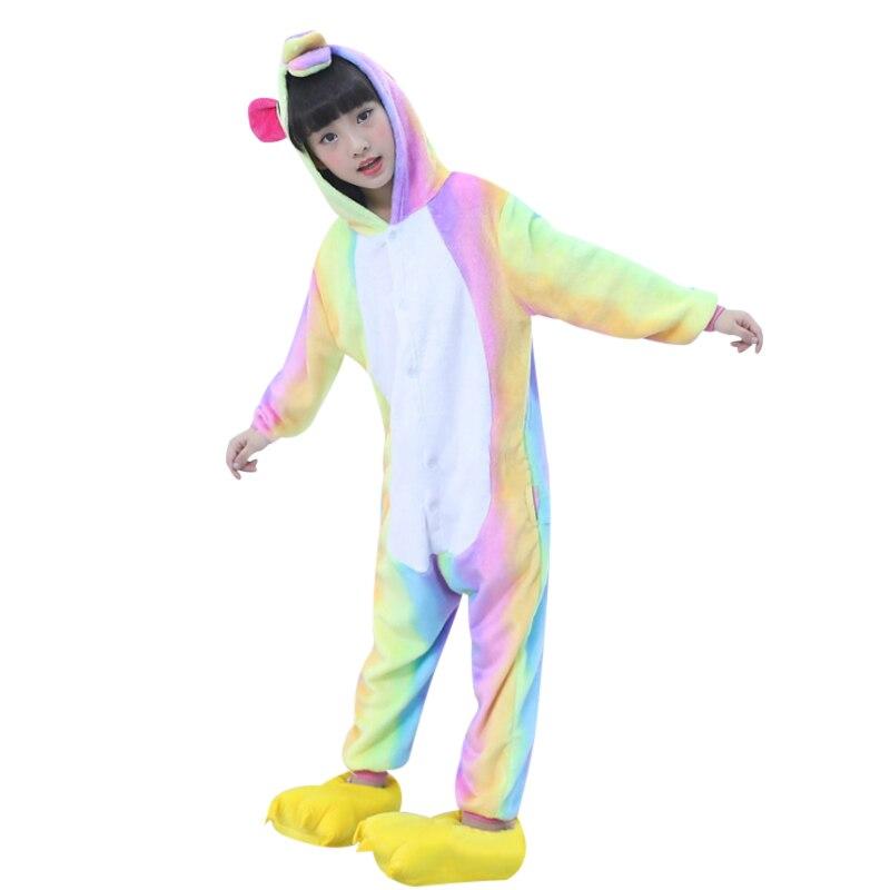 2018 новая одежда для маленьких девочек и мальчиков осень-зима детские пижамы теплые флисовые милые животные мультфильм пижамы для детские п...