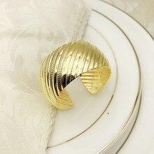 6PCS round opening napkin buckle metal plating ring towel