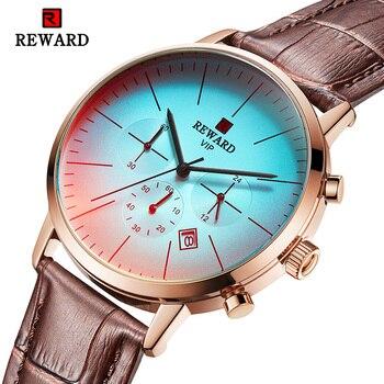 2d32b4f5b0ae Recompensa de 2019 nuevos relojes para hombre Casual impermeable pulsera de  moda para hombre sencillo relojes de cuarzo reloj Masculino