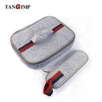 TANGIMP Insulated Cooler Food Warmer Travel Carry Bag Hot Cold Food Keeper With Handle Grey Container