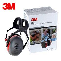 3 M X3A dźwiękoszczelne nauszniki do spania słuchawki Super snu cicho pracującym redukcji szumów zawodowej hałasu fabryka ochrony|Ochraniacze słuchu|   -