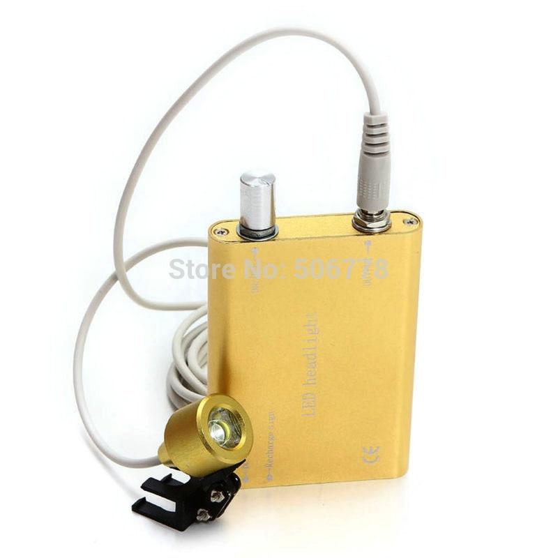 Glory yellow Portable LED Head Light Lamp for Dental Surgical Medical Binocular Loupe freeshipping