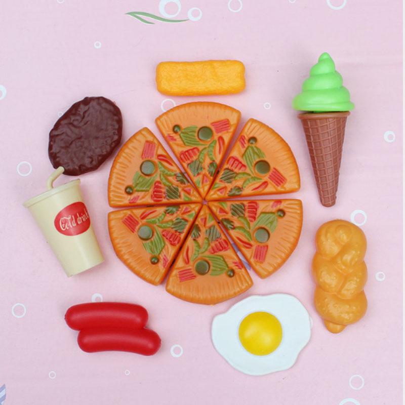 Fake Pizza Fast Cooking Pretend Kitchen Role Play Toy Board Game Children Simulation Foods Toys Creative Material Dazzling Toys