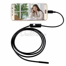 6 LED 5.5mm Lens Android USB Endoscope Waterproof Inspection Borescope Tube Camera with 1M Cable Mirror Hook Magnet