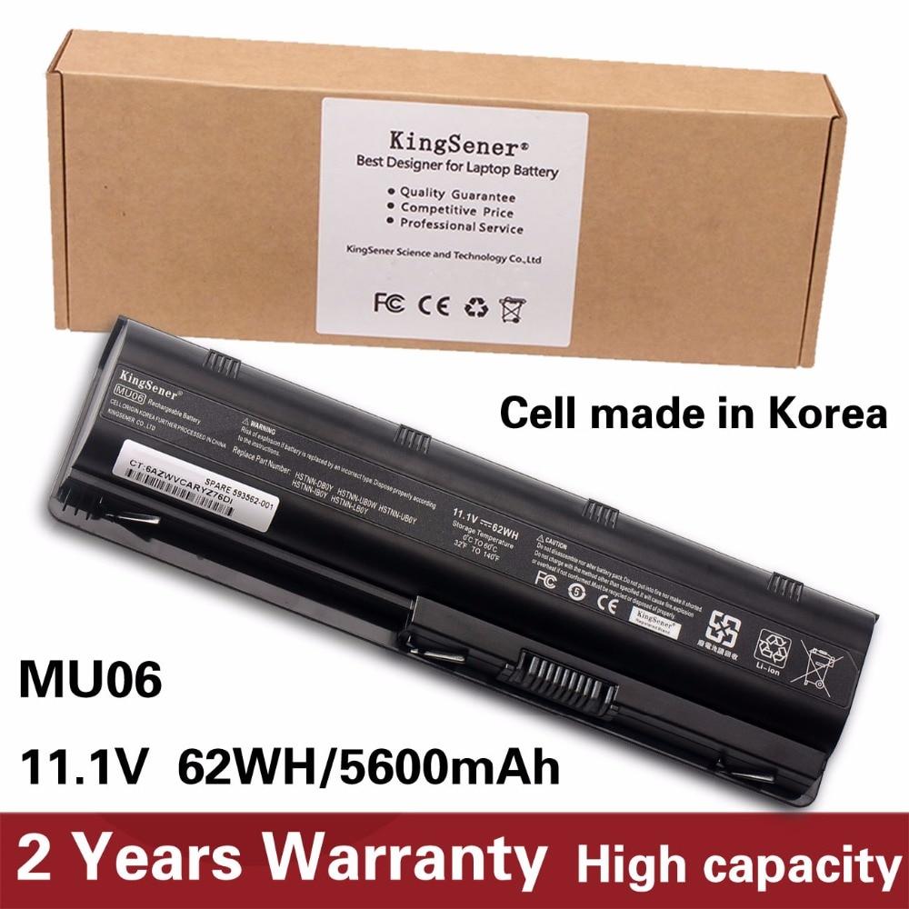 KingSener Korea Cell New MU06 Battery For HP 430 431 435 630 631 635 636 650 655 CQ32 CQ62 G32 G42 G72 G56 G62 G7 DM4 593553-001