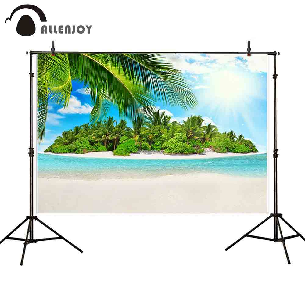 Allenjoy photography background sea beach island summer tropical backdrop photo shoot props photocall portrait newborn