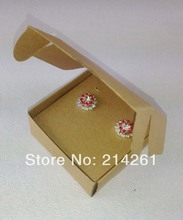 65x65x30mm Fashion Earring/Necklace BOX Kraft BOX Pillow BOX For Earring /Necklace /Ring /Jewelry Set /Hand Made Gift