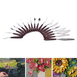Professionelle Edelstahl Malerei Spachtel Ölfarbe Spachtel 18 Größen Palette Werkzeug Misch Scraper Kunst Werkzeug