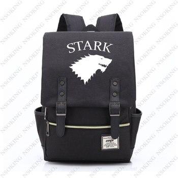 New Game Of Thrones Zaino Zaino Di Corsa Di Modo Delle Donne Degli Uomini Di Casa Stark Studente All'aperto Borsa Di Tela Unisex