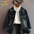 Girls Denim Jackets Children Clothing 2016  Autumn Denim Coats For Girls Outerwear Kids Clothes Tops Long Sleeves high-quality