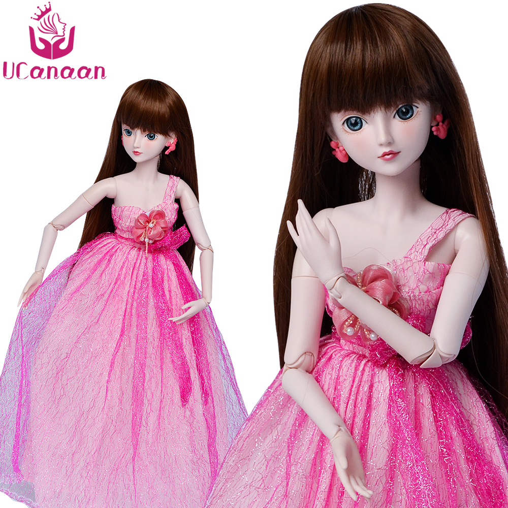 купить Ucanaan 1/3 Large BJD/SD Doll 60CM 19 Jointed Cute Flower ManLi (Free Eyes+Hair+Makeup+Clothes+Shoes) Dream Girl's Best Gift по цене 5251.45 рублей