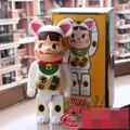 Muñeca de vinilo Bearbrick Be @ rbrick 400% 28 CM Lechosa Lucky Cat PVC Del Arte Del Vinilo Figura con la caja al por menor