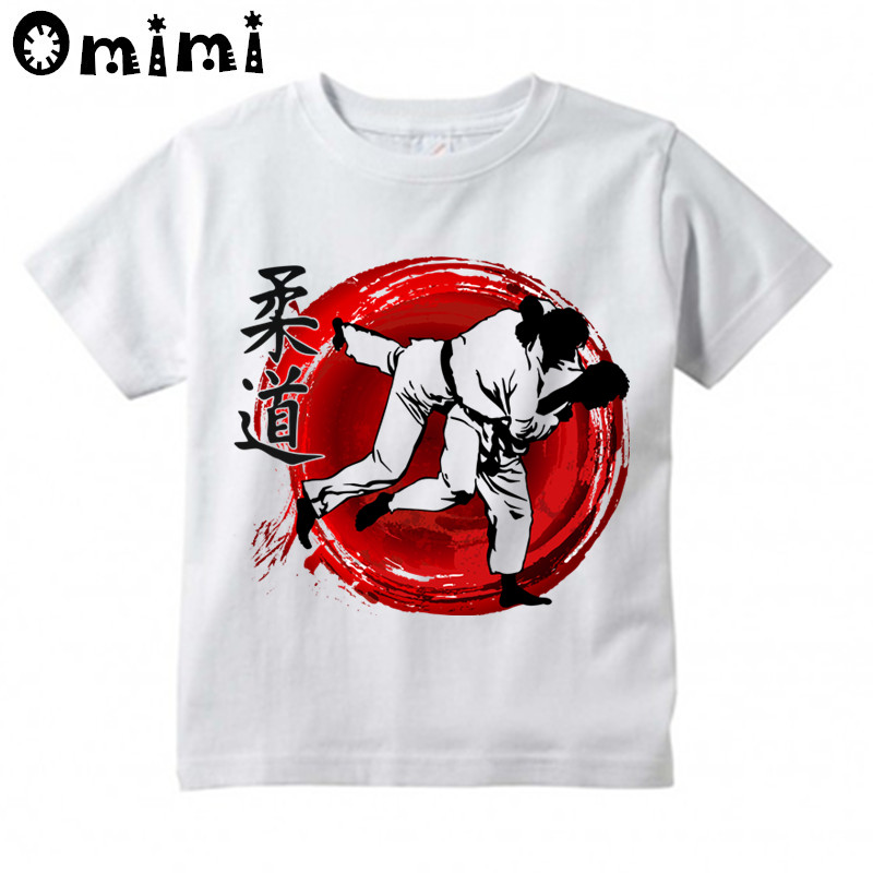 Kids Evolution Of A judo Design T Shirt Boys and Girls Great Casual Short Sleeve Tops Children's Funny T-Shirt cotton bull and letters print round neck short sleeve t shirt