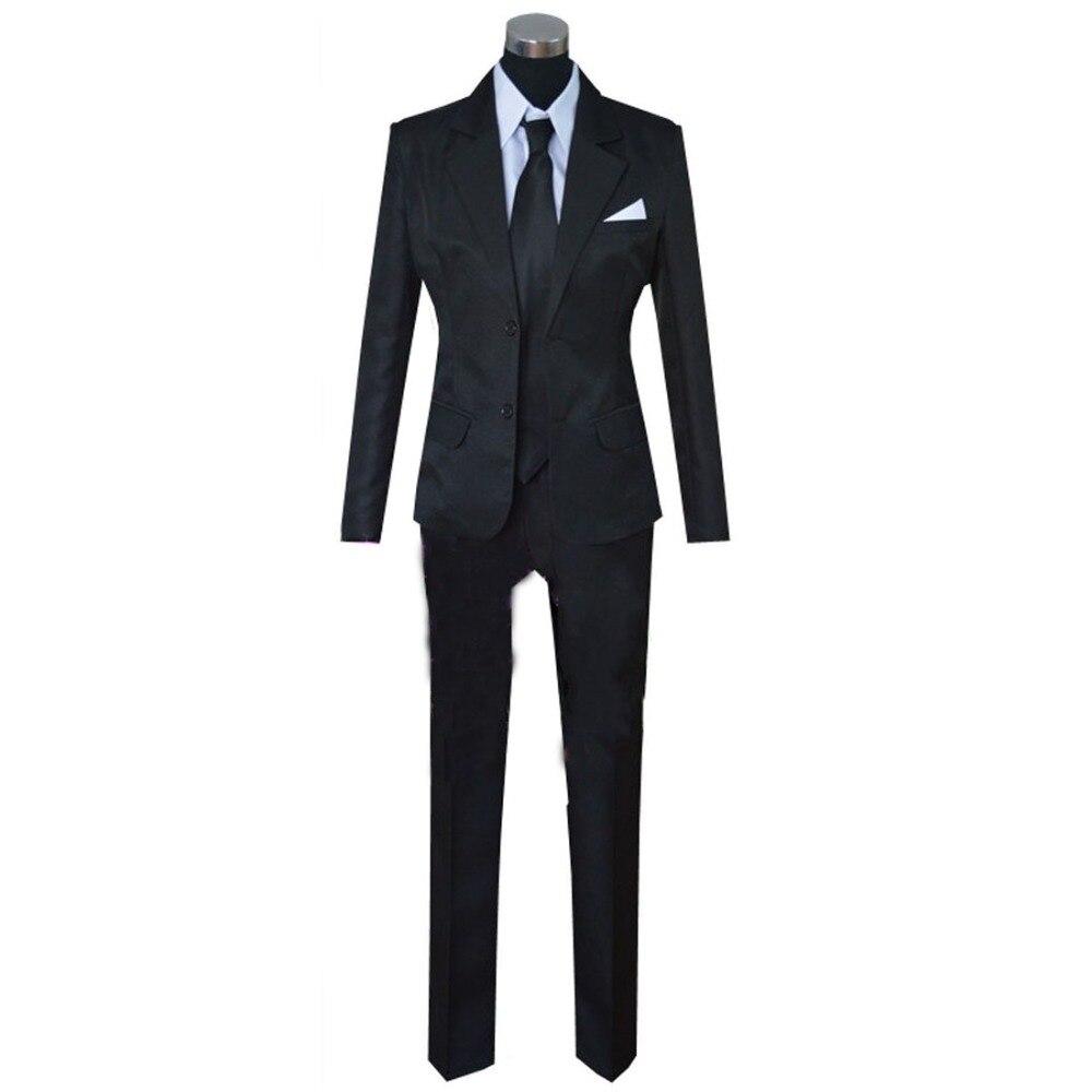2018 New Style Cheap Price Yuri on Ice Victor Nikiforov Cosplay Black Suit Yuri!!! on Ice Costume
