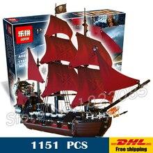 1151 шт. Новый 16009 пираты карибского моря Месть Королевы анны DIY Модель Строительные Блоки Minifigures Игрушки Совместимо с Lego
