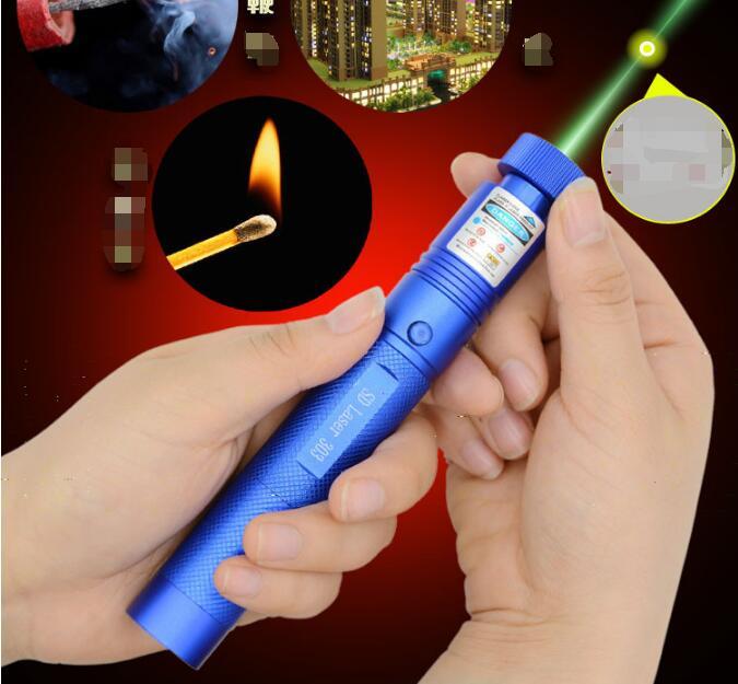 Hot! vert laser pointeur mw 532nm SOS lampe de Poche lazer brûler sd laser 303 présentateur Graver Matchs & Cigarettes Légères