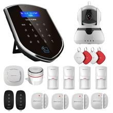 цена на Wolf-Guard Wireless 3G Wifi Home Alarm Security Burglar System 3G Host 2.4G Wifi 720P IP Camera Door/PIR/Smoke Motion Detector