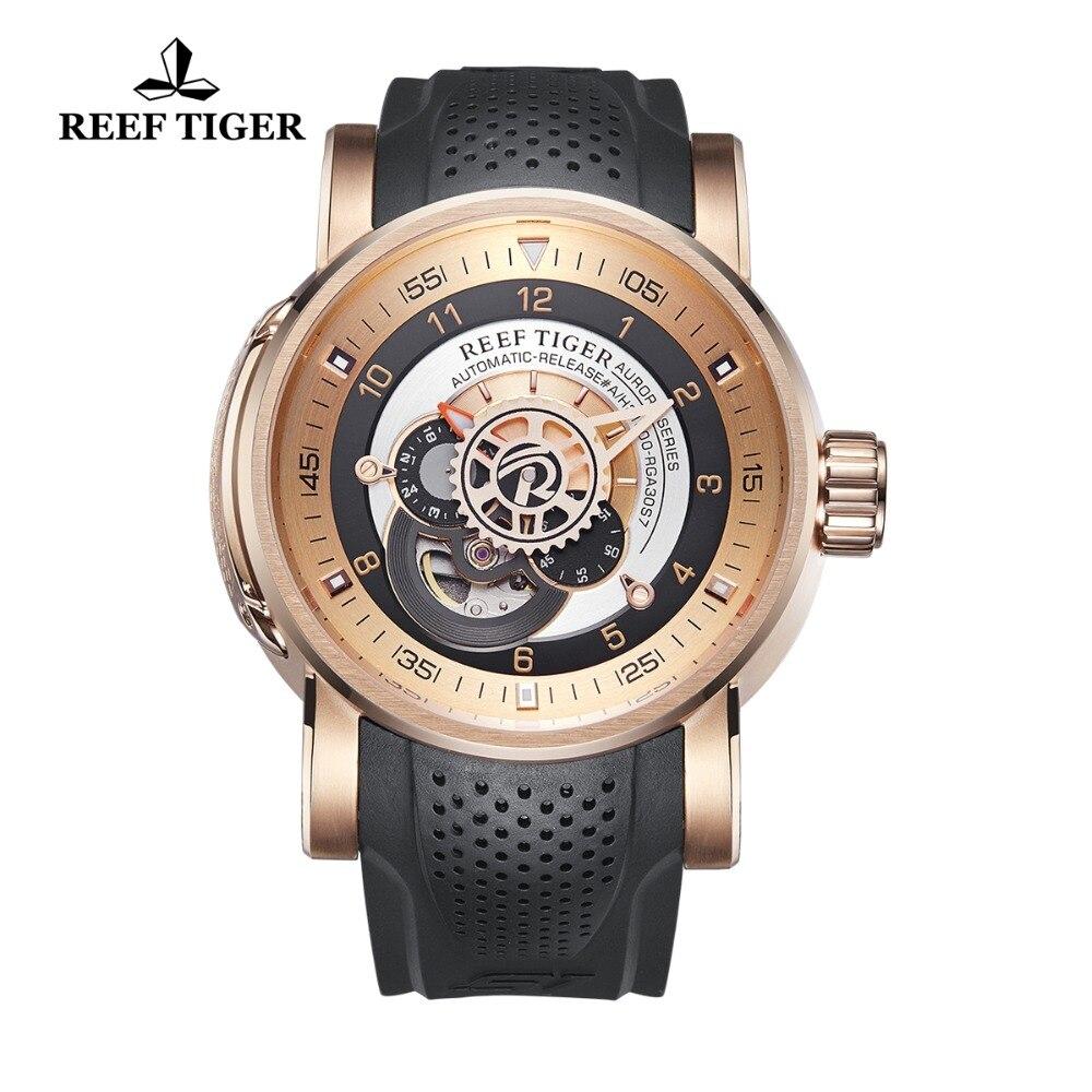 Reef Tiger/RT лучший бренд класса люкс спортивные часы для мужчин механические часы водостойкие автоматические часы relogio masculino RGA30S7