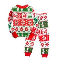 Christmas Kids Pajama Sets High quality 2-7 Yrs Baby Boys Girl Clothing Sets