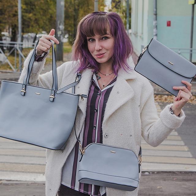 Set of 3 Luxury Fashionable Matching Women's Bags