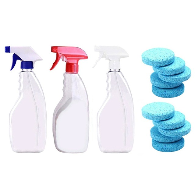 Multifunctional Effervescent Tablets Spray Cleaner Windshield Glass Washer Cleaner Home Cleaning Effervescent Spray Cleaner